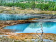 Reflexión en piscinas termales Foto de archivo libre de regalías