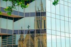 Reflexión en vidrio Fotos de archivo libres de regalías