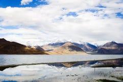 Reflexión hermosa del lago Pangong, Ladakh, la India Imágenes de archivo libres de regalías