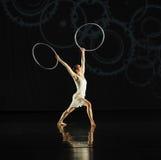 Reflexión invertida - musical de la danza: Línea roja Fotos de archivo