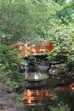 Reflexión sombreada del puente Foto de archivo