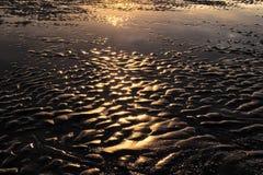 Reflexión y textura en la playa foto de archivo libre de regalías