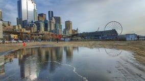 Reflexión borrosa de Seattle Imágenes de archivo libres de regalías