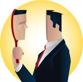 Reflexión de espejo del hombre de negocios Imagen de archivo libre de regalías