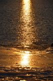 Reflexion auf dem Strand im Winter an der Küste von Neu-England Stockbilder