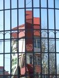 Reflexion auf den Fenstern Stockfotografie