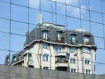 Reflexion auf den Fenstern Lizenzfreies Stockfoto