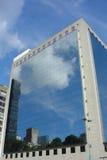 Reflexion auf den Gebäuden Stockfoto