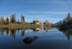Reflexion auf Dolomiti lizenzfreie stockbilder
