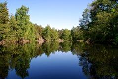 Reflexion auf einem See Lizenzfreie Stockbilder