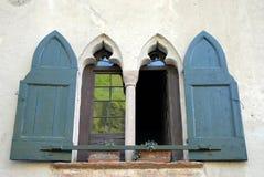 Reflexion auf Fensterglas stockfotografie