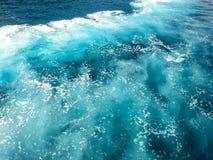 Reflexion auf Meerwasser in Hrvatia Kroatien stockbild