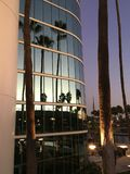 Reflexion av en solnedgång Long Beach Kalifornien Royaltyfri Fotografi