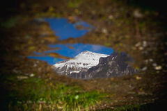 Reflexion av ett bergmaximum Royaltyfria Foton
