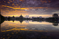 Reflexion av floden Fotografering för Bildbyråer