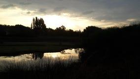 Reflexion av horisonten Fotografering för Bildbyråer