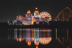 Reflexion av ljus på vattnet fotografering för bildbyråer