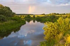 Reflexion av regnbågen Royaltyfria Foton