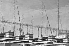 Reflexion av skeppsdockorna Fotografering för Bildbyråer