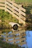 Reflexion av staketet Royaltyfria Foton