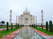 Reflexion av Taj Mahal Arkivbild