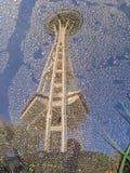 Reflexion av utrymmevisaren i Seattle Royaltyfri Bild