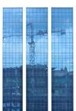 Reflexion of building. Construction background stock photos