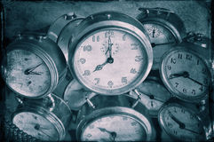 Reflexion of clocks Royalty Free Stock Images