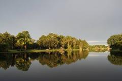Reflexion der Bäume im Wasser Lizenzfreie Stockbilder