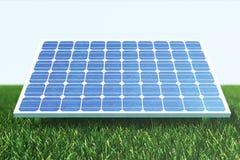 Reflexion der Illustration 3D der Wolken auf den Solarzellen Energie und Strom Alternative Energie, eco oder Stockfoto