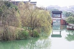 Reflexion des See-Qingyunspektrums Stockfotografie