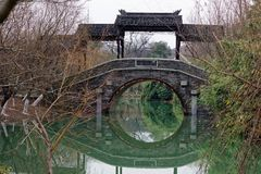 Reflexion des See-Qingyunspektrums Stockbilder