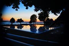 Reflexion des Sonnenuntergangs Lizenzfreie Stockbilder