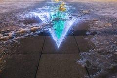 Reflexion des Weihnachtsbaums Stockbilder