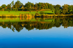 Reflexion the early autumn. Reflexion in the lake the early autumn Royalty Free Stock Photos
