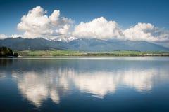 Reflexion in einem See stockbilder