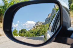 Reflexion in einem Spiegel Stockbild