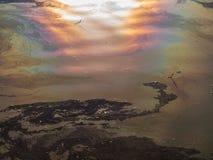 Reflexion in einem Teich Lizenzfreie Stockfotos