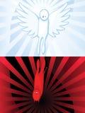 Reflexion (Engel und Dämon) Lizenzfreie Abbildung
