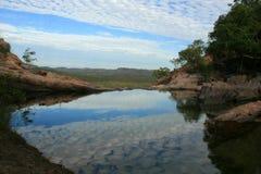 reflexion för Australien kakadunationalpark Arkivbild