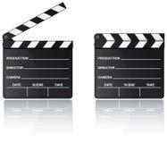 reflexion för brädeclapperfilm Arkivfoton