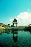 Reflexion för forntida tempel Arkivbilder
