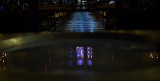 Reflexion för glass fönster för fläck Arkivfoton