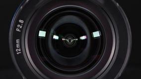 reflexion för kameralins stock video