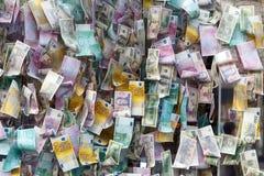reflexion för pengar för begreppsgodshus verklig arkivbilder