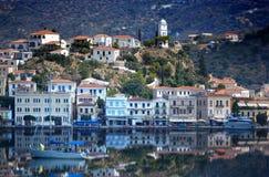 REFLEXION FÖR POROS ISLAND-GREECE-MAGICAL royaltyfria bilder