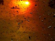 Reflexion för sol för LaTuna kanjonbrand på bilen Royaltyfria Bilder