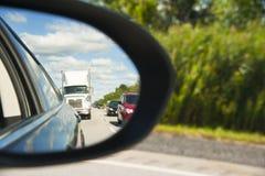 Reflexion för spegel för sidosikt Arkivfoto
