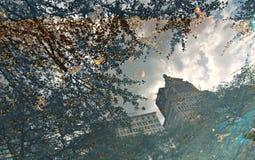Reflexion i Chicago, Illinois, USA Fotografering för Bildbyråer