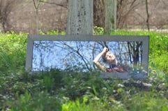 Reflexion im Spiegel stockbild